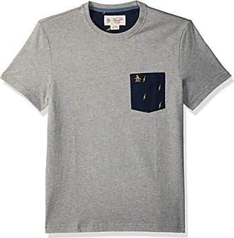 50a0e8918332 Original Penguin Mens Short Sleeve Lightening Pocket Tee, rain Heather,  Medium
