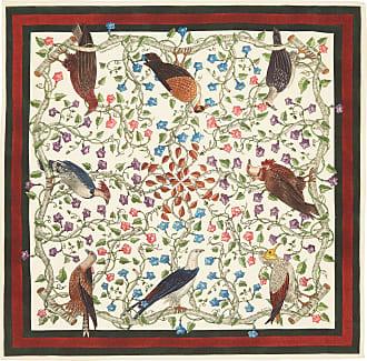 736c5f669f7 Gucci Pañuelo cuadrado de bolsillo de seda con estampado de aves rapaces