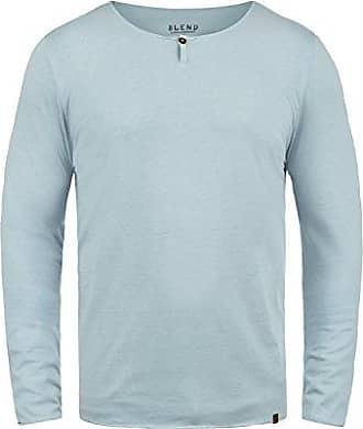 8e9bf8c56a34bb Blend Ireno Herren Longsleeve Langarmshirt mit Rundhals-Ausschnitt aus  hochwertiger Baumwollmischung, Größe:XL