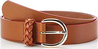 Pieces Pcluella Leather Jeans Belt, Ceinture Femme, Marron (Cognac), 90 f7067528cc9