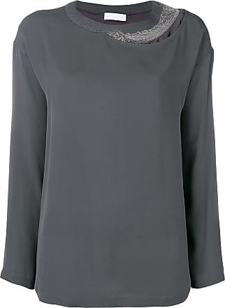 704ee4421f8e4 Fabiana Filippi embellished detail blouse - Grey