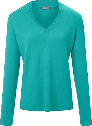 include V-neck jumper long sleeves include turquoise