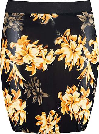 Be Jealous Womens Ladies Floral Printed Elasticated Waist Bodycon Bandage Pencil Mini Skirt