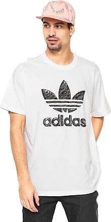 adidas Originals Camiseta adidas Originals Reta Logo Branca