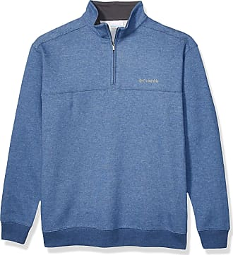 Columbia mensAM6771Hart Mountain Ii Half Zip Long Sleeve Pullover Sweater - Blue - Medium