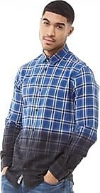 Only & Sons long sleeve dip dye brushed cotton shirt