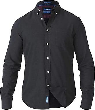Duke London Duke D555 Mens Kingsize Keenan Oxford Shirt - Black - 4XL