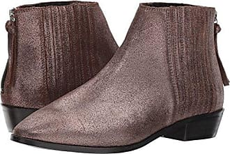 Kenneth Cole Reaction Womens Loop-y Flat Ankle Bootie Finger Gusset Leather, Hematite, 6.5 M US