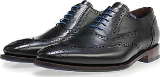 Floris Van Bommel schwarzer Leder-Herren-Schnürer, Business Schuhe, Handgefertigt
