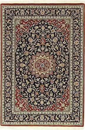 Nain Trading 153x103 Handknotted Eilam Silk Warp Rug Dark Grey/Rust (Wool/Silk, Iran/Persia)