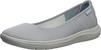 Crocs Womens Reviva Ballet Flat, Light Grey/Pearl White, 6 UK
