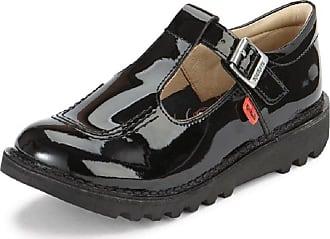 Kickers Girls Kick T BAR Black Patent Leather Shoes School 1-12532 (31)