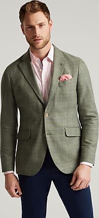 Hackett Mens Check Wool-Cashmere Blazer   Size 38Regular   Green/Blue