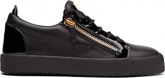 Giuseppe Zanotti Leather and patent leather low-top sneaker FRANKIE
