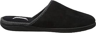 Padders Mens Luke Slippers 471/56 Black 10 UK, 45 EU