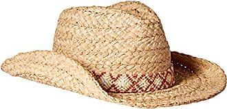 ále by Alessandra Womens Destin Raffia Braid Western Hat With Rated UPF 50+, Natural, One Size