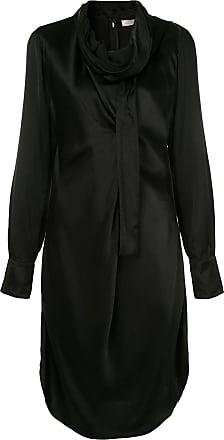 Nina Ricci Vestido com lenço na gola - Preto