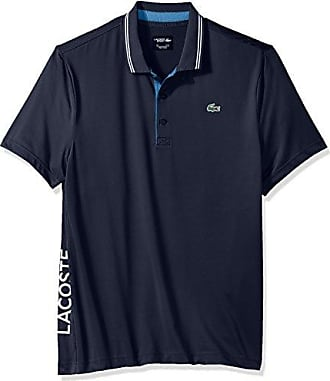 3b1332596e3388 Lacoste Mens Short Sleeve Jersey with Jacquard Collar   Contrast Piping Polo
