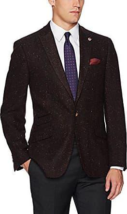 Ben Sherman Mens Two Button Slim Fit Glenplaid Sportcoat
