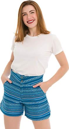 Olimpo Camisaria Short Feminino Olimpo Tecido Estampado 100% algodão