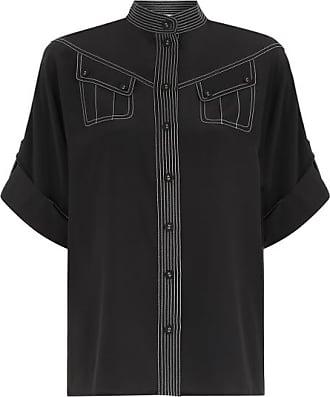 Zimmermann Camisa Utility Preta - Mulher - Preto - 3 AU