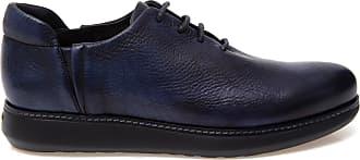 Giorgio Armani Sapato de Couro Azul - Homem - 10 IT