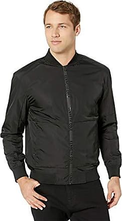 Kenneth Cole Mens Bomber Jacket, Black X-Large