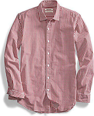 Goodthreads Mens Slim-Fit Long-Sleeve Gingham Plaid Poplin Shirt, Red/White, XX-Large