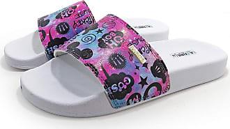 La Faire Chinelo Slide do Mickey Colors La Faire Confort (39/40, Sola Branca)