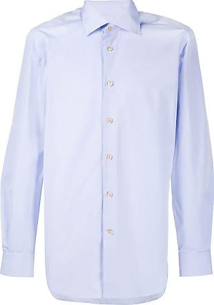 Kiton Hemd mit klassischem Kragen - Blau