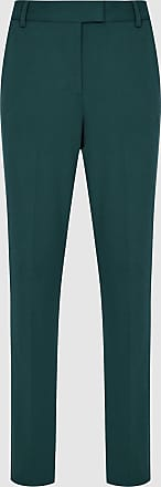 Reiss Joanne - Cropped Tailored Trousers in Teal, Womens, Size 16R