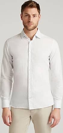 Hackett Mens Boat Oars Print Cotton Shirt | Medium | White/Blue