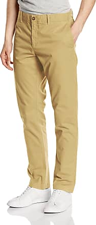 Original Penguin Mens Chino Relaxed Trousers, Beige (Kelp), W32/L32