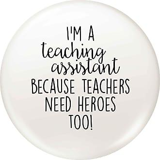 Flox Creative Small 25mm Pin Badge Teaching Assistant Teachers Heroes