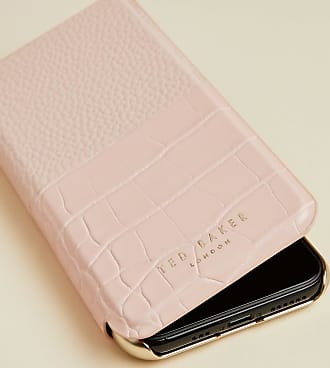 Ted Baker Croc Iphone 11 Pro Book Case in Light Pink VIOLETE, Tech