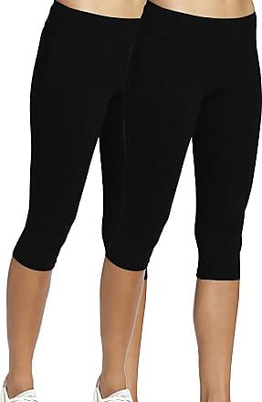 iLoveSIA 2Pack Womens Yoga Pants High Waist Tummy Control Workout Running Leggings Black XL
