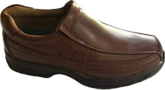 Cushion-Walk Mens Leather-Lined Lightweight Formal Business Work Comfort Slip-on Shoes Size 7-11 Wide Fitting (7 UK / 41 EU, Brown)