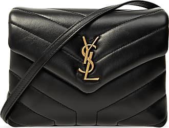 Saint Laurent Quilted Shoulder Bag Womens Black