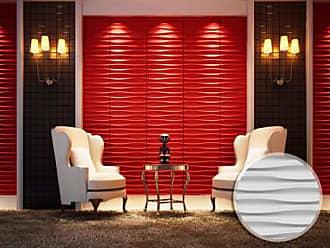 Venta-Unica.com Panel mural 3D STRIES para pintar - Pack de 3m2 - Lote de 12 piezas