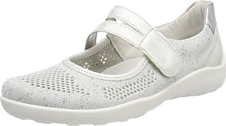 Remonte Womens R3506 Closed Toe Ballet Flats, White White Silver Ice Silver 80, 5 UK