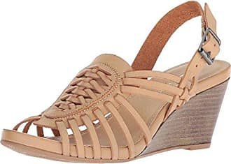 Chinese Laundry Womens Heist Wedge Sandal, Pale Nude Burnished, 8 M US