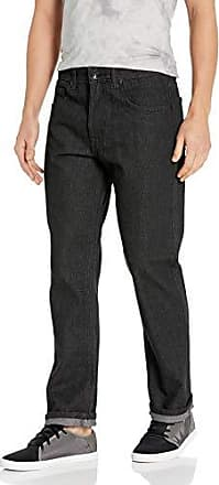 Southpole Mens Pants Long in Thick Bull Twill Fabric and Straight Fit