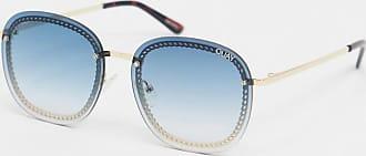 Quay Jezabel chain round sunglasses in blue