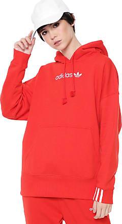adidas Originals Moletom Flanelado Fechado adidas Originals Coeeze Hoodie  Vermelho f98fb77bd1140