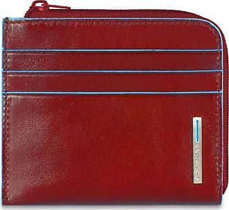 PIQUADRO BLUE SQUARE CLASSIC Wallet RFID portafoglio rosso rosso NUOVO