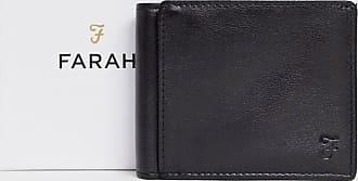 Farah Cody Roma - Zweifach faltbare Brieftasche in Schwarz mit Prägung