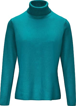 include Roll-neck jumper in pure new wool and cashmere include turquoise