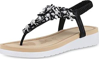 Scarpe Vita Women High-Heeled Sandals Beach Sandals Flower Decorative Pearls 190499 Black UK 5.5 EU 39