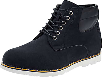 oodji Mens Faux Suede Shoes, Black, 10.5 UK