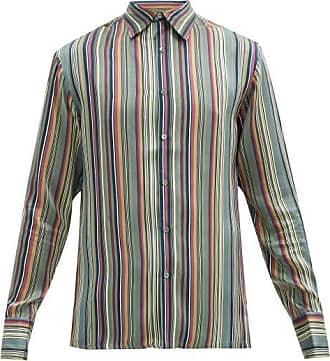 73 London Striped Silk Satin Shirt - Mens - Multi